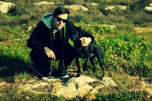 Me and Nero (my dog) by SamuelIngrosso