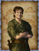 Robin Williams - Peter Pan by Kittensoft