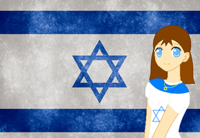 HM CSF Israel flag background by ABtheButterfly