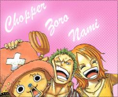 Chopper, Zoro and Nami by francielenfortes