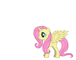 Alicorn Fluttershy by Winged--Maned--Wolf