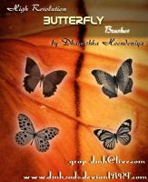 Butterfly Brushes by dmh2ads