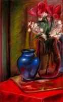 blue vase by ShallowGrin
