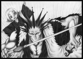 Kenpachi and Yachiru by NirwAnia