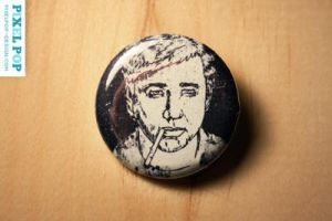 Bill Hicks Button by Lydia-distracted