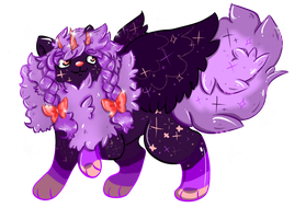 Purple Galaxy Peekyu Auction ((Closed)) by Koneko-Tsundere