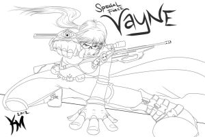 SF Vayne skin lineart by Kaiser-jiM