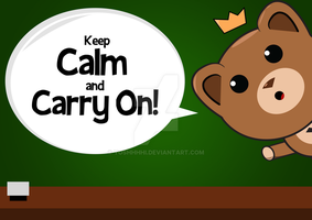 Keep Calm And Carry On by Yoshhhhi
