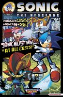 MY 1ST PRO SONIC COMIC COVER Sonic#247 by trunks24