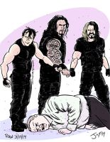 The Shield attack Kane! by JonDavidGuerra
