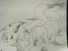 The nine tailed killer fox by xXxKillerFoxXx