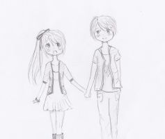 Maddie and Dustin by AngelArt123