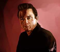 Johnny Cash by Silphes