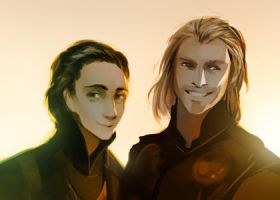 Thor and Loki by MaGLIL