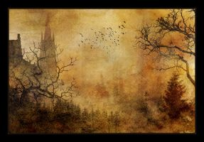 spooky castle 2 by LadyVictoire