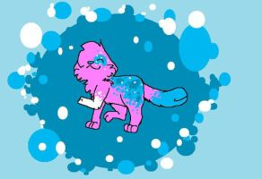 Slurpee the wolf-cat thing by Thundercatzgirl