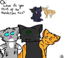 Q4: What do you think of the Thunderclan kits? by Ask-Nightcloud