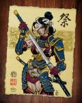 Samurai Girl Coloured by PaulMcInnes