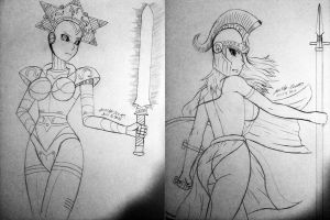 Two More Sketches by MR-CREEPING-DETH