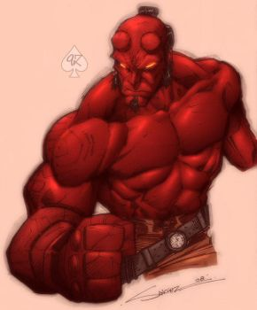 Hellboy colored by spade92