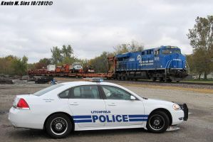 NS Conrail heritage 8098 with Police Interceptor by EternalFlame1891
