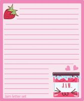 strawberry jam letter set by Ritzylicious