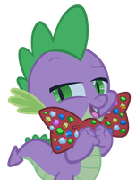 Spike with bowtie by punchingshark