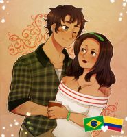 Brazil and Colombia - For Melonstyle by FlopyLopez