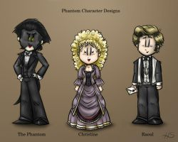Phantom Character Designs, Updated Version by DarthxErik