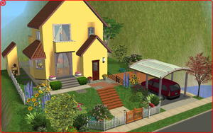 Sims 2 - House from Ponyo by the Cliff by kanzeNatsume