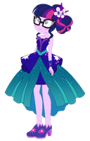 EqG Sci-Twi Crystal Ball dress style by CookieChanS2