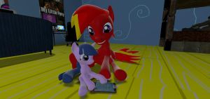 Torque playing with a Twilight doll by mRcracer