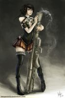 Bazooka Girl by MeganeRid
