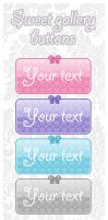 Sweet Gallery Buttons (7 colors) by Sayuki-hime