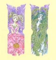 Clow cards: Flower and Wood by Kiraya00