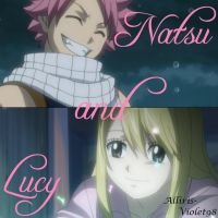 Ft Natsu and Lucy by Alliris-Violet98