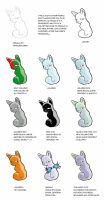 Illustrator Color Styles-cats by Bucinhas