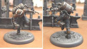 Malifaux Freikorps Strongarm Outcast by Badgroth