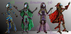 Quarian alternative clothing style by Vanthica