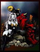 Lady Death and Boss by SuzanneMoseley