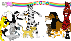 100 Deviations: My Gallery in One Picture by FantasiaKitty