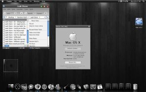 Black Mac OS Xp Theme by MarikKun