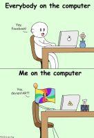 People And Their Computers by tie-dye-flag