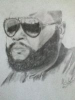 Rick Ross by MarcusHECANDRAWBoggs