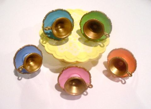 Colorful Princess Tea Cup Ring by AmbiguousAngel