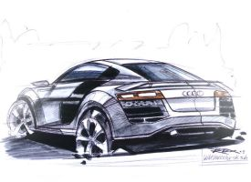 Audi R8 Sketch by RodoxDesign