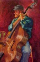 Cello Player by adversary1
