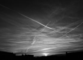 Black and White Sky I by cementine