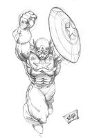 Captain America after Jim Lee by wayner8088