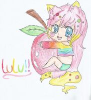 lulu loves apples ^^ by Chibii-chii